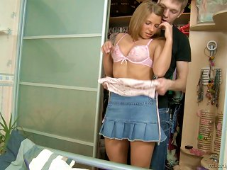 He Brings Her Home, Fucks Her Hard And Cums Inside Her Teen Video