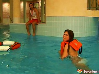 Swimming Instructor Penetrates A Pretty Teen's Shaved Pussy Teen Video