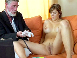 Senior Old Doctor Treating A Teenie Patient Teen Video