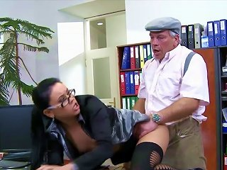 Sweet Old Man Is Fucking With Young Brunette Teen Video