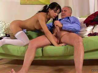 Sexy Young Lady Finds It Better To Fuck With Older Man Teen Video