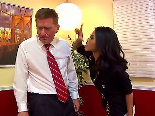 Cindy Starfall Is An Ordinary Office Worker And Just A Cute Girl. But Today She Got Realy Naughty And Dominates Over Her Boss, Because He Has A Large  Teen Video