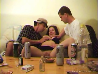 Busty Andrea Ash Has Threesome Sex After A Home Party Teen Video