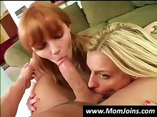 Mom And Daughter Take Turns Sucking On This  Guy's Cock Teen Video
