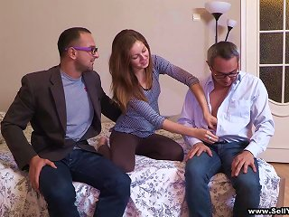 Amazing Cuckold Scene With Slim Amateur Hussy Anfisa Teen Video
