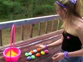 Chick In Her Sexy Tube Top Playing Outdoors Teen Video