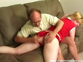 Golden Haired Teen With Nice Firm Butt Getting Spanked Teen Video