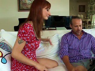 Gorgeous Redhead With A Hairy Pussy Enjoying A Hardcore Anal Fuck Teen Video