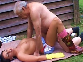 Young Brunette Fucking Old Guy Teen Video