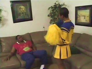 Ebony Cheerleader Is Going For A Huge Black One Teen Video
