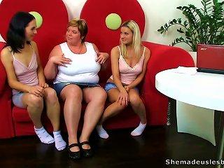 Kinky Fatty Masturbates  Two Hot Lesbian  Having Sex Teen Video