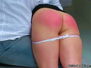 Round Young  Spanked Hard Teen Video
