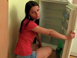 Pigtailed Brunette Is Fucking In Her Kitchen Teen Video