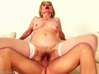 Old Mom Gets Young Cum Inside Her Mature Cunt Teen Video