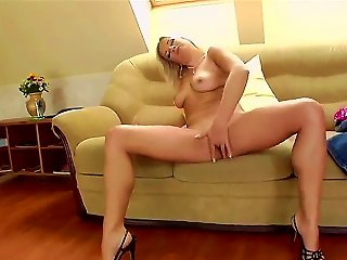 Good-looking Blonde Pornstar Luciana With A Natural Boobs Undresses In Front Of Camera And Starts To Masturbates Her Clit And Pussy Very Thoroughly An Teen Video