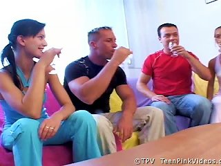 & Mili Foursome Swingers  With Fucking Teen Video