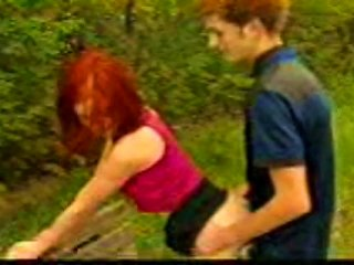 Sex On A Park  With A Teen Redhead Teen Video