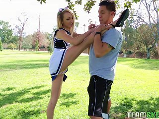 Flexible, Sexy Cheerleader Works Out On His Hard Dick Teen Video