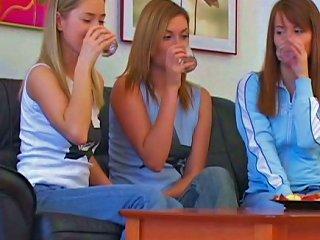 Three Gorgeous Teens Have An Amazing Lesbian Pleasure Teen Video