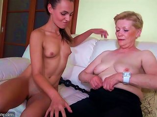 Nice Young Woman And Old Granny Masturbated Teen Video