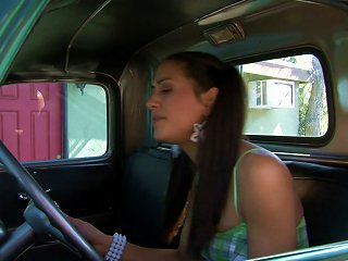 Pigtailed Brunette Teen Gets Her Pussy Rammed By Her Green Truck Teen Video