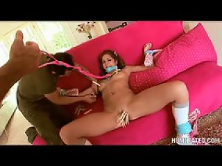Clothes Pins All Over The Body Of The Teen Teen Video
