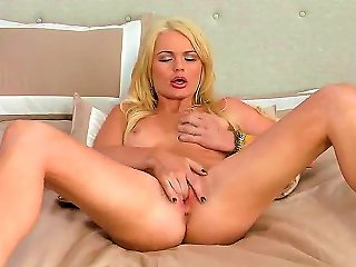 The Appetizing Creamy Skinned Blonde Pornstar Alexis Ford Demonstrates Us In Front Of Camera Her Nice Body. Her Fingers Penetrate Her Wet Tight Pussy  Teen Video