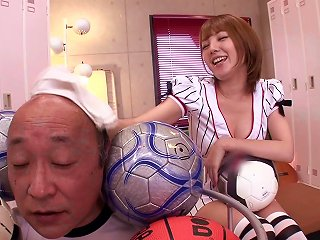 Tsubasa Amami Gives A Rimjob And A Footjob In The Locker Room Teen Video