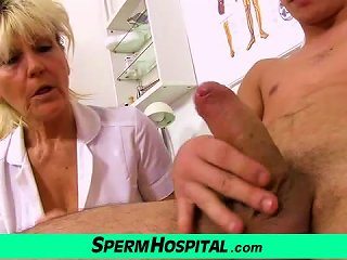 Nasty Grandma Doctor Hana Milking Young Boy Teen Video