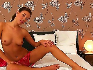 Jennys Sexy Pink Panties And Tight Bronzed Body Are So Sexy They Just Had To Be Exposed In One Of Them Hot Solo Softcore Videos. And This Video Is Rig Teen Video
