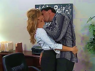 Brooklyn Lee Is Just A Simple Office Secretary With Hot Body And Big Boobs. She Is Doing An Average Job, But Her Boss Marco Banderas Needs More From H Teen Video
