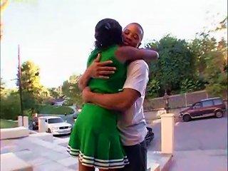 Black Cheerleader Does Splits For Him Teen Video