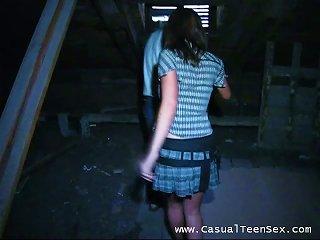 Sexy Couple Fucking Hardcore In The Attic Teen Video