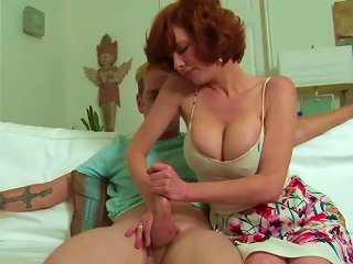 Busty Mature Goes Wild On A Young Prick Teen Video