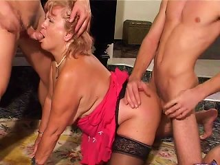 Old Woman With Two Young Boys Teen Video