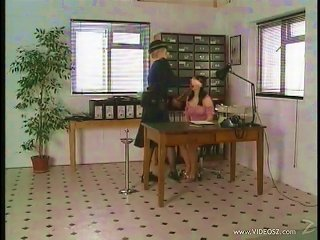A Pigtailed Teen Gets Toyed With A Strapon By An Office Chick Teen Video