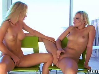 Sensual Blondes In Amazing Softcore Teen Video