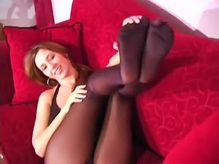 Cute Young Girl In  And Pantyhose Shows Off Teen Video