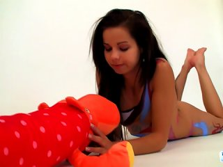Body Paint On Gorgeous Young Model Teen Video