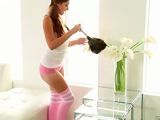 Radiant Solo Model In Sexy Stockings Masturbates With A Toy Close Up Teen Video
