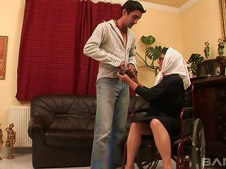 An Old Woman In A Wheelchair Fucks A Much Younger Guy Teen Video