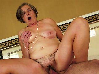 Granny Being Drilled By A Young Dude Teen Video