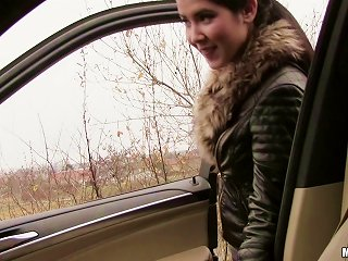 Leather Jacket Teen Blows Him In The Car And Fucks In Pov Teen Video