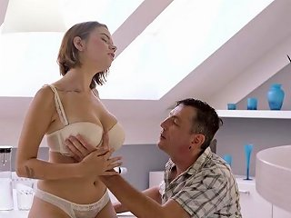 Super Hot Lingerie Teen In Hard Sex Scenes With Daddy Teen Video