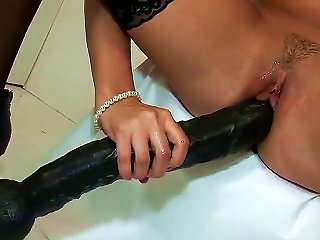 Awesome Blonde Pornstar Heather Starlet With A Small Tits And In A Black Stockings Sucks A Colossal Black Dildo. After That She With A Pleasure Penetr Teen Video