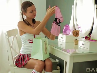 After Class, Coed Candy Julia Gets Out Of Her Uniform And Uses Her Vibrator Teen Video