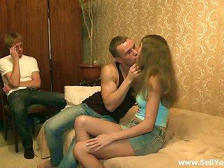 Sexy Dasha Gets Fucked In Front Of Her Poor Boyfriend Teen Video