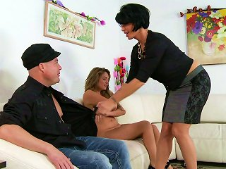 A Guy Has A Threesome With A Milf And A Younger Chick Teen Video