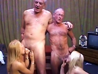 Young Blondes Pleasing Old Studs Teen Video