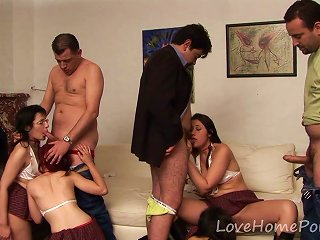 Bisexual Schoolgirls Love Banging In An Orgy Teen Video